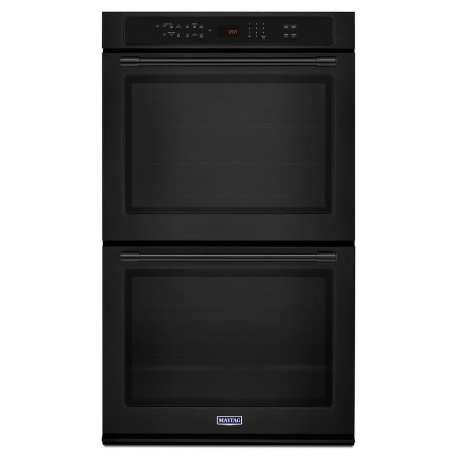Maytag Convection Double Electric Wall Oven (Black) (Common: 27-in; Actual: 27-in)