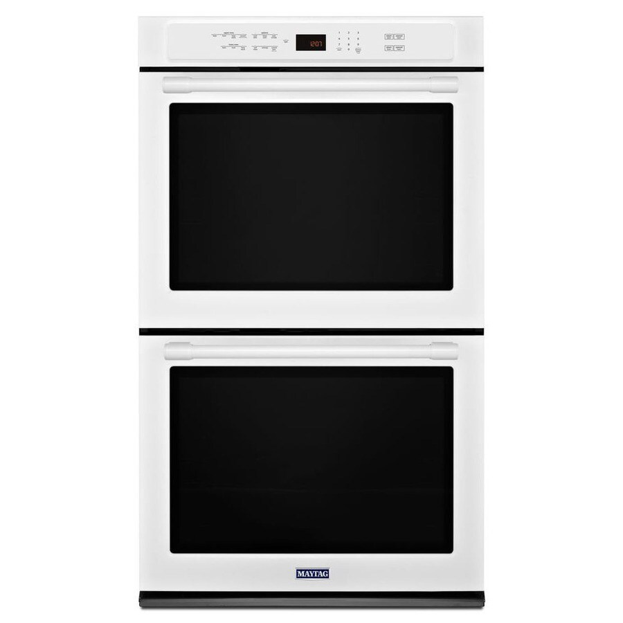 Maytag Self-Cleaning Convection Double Electric Wall Oven (White) (Common: 27-in; Actual: 27-in)