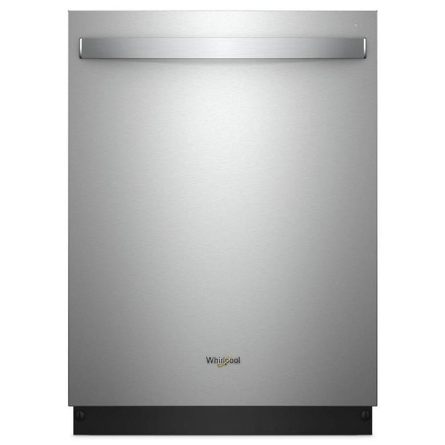 Whirlpool 47-Decibel Built-In Dishwasher (Fingerprint Stainless Steel) (Common: 24-in; Actual: 23.875-in) ENERGY STAR