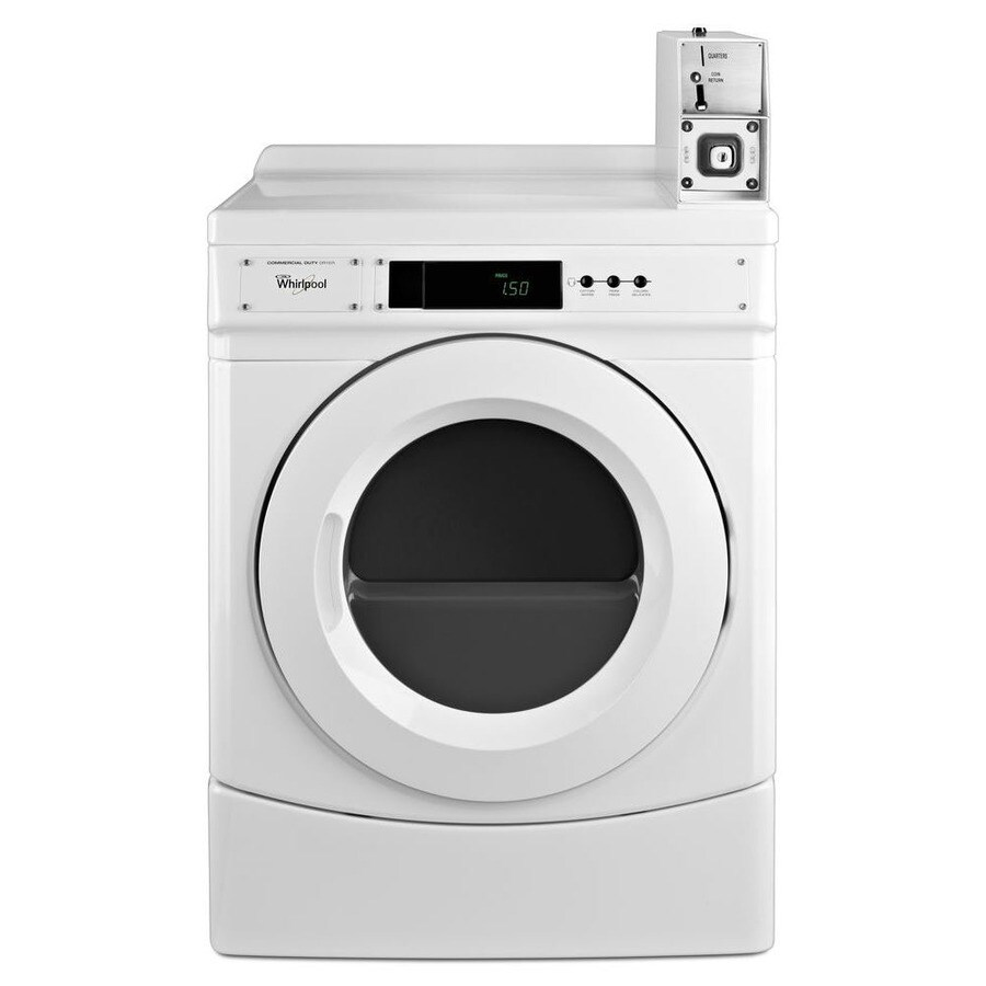 Whirlpool Commercial 6.7-cu ft Coin-Operated Electric Commercial Dryer (White)