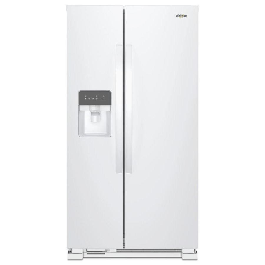 Whirlpool 21 4 Cu Ft Side By Refrigerator With Single Ice Maker