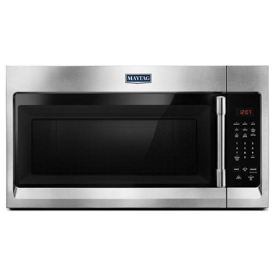 Maytag 1.7-cu ft Over-the-Range Microwave (Fingerprint-Resistant Stainless Steel) (Common: 30-in; Actual: 29.875-in)