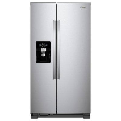 Whirlpool 21 4-cu ft Side-by-Side Refrigerator with Ice