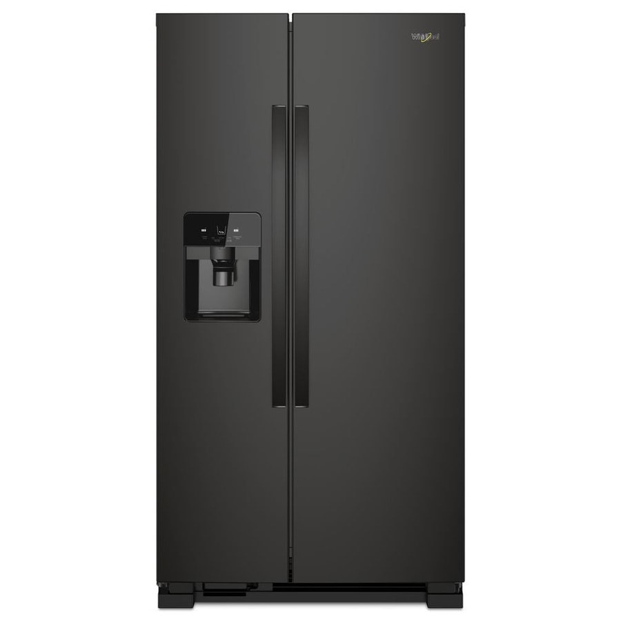 Shop Whirlpool 21 4 Cu Ft Side By Side Refrigerator With