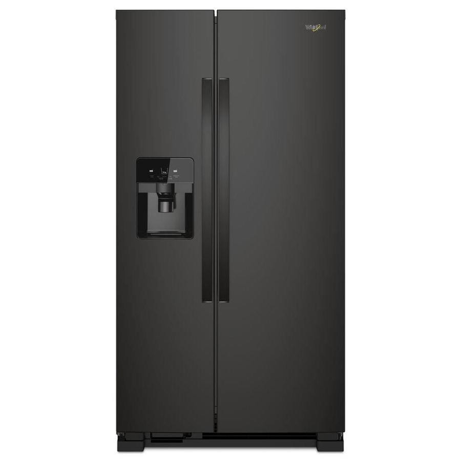 Shop Kitchenaid 24 8 Cu Ft Side By Side Refrigerator With: Whirlpool 24.5-cu Ft Side-by-Side Refrigerator With Ice