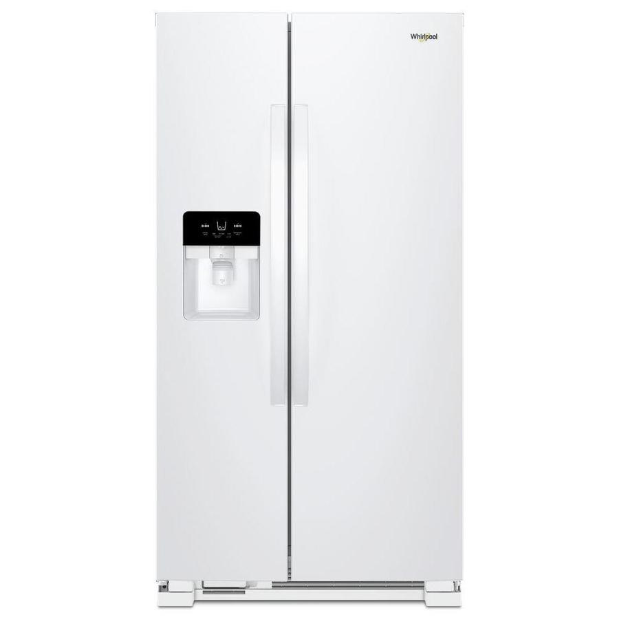 Whirlpool 24 5 Cu Ft Side By Refrigerator With Ice Maker White