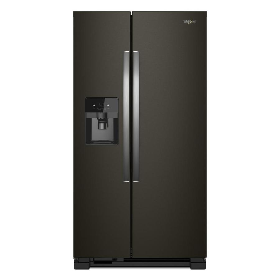 Whirlpool 24 5 Cu Ft Side By Side Refrigerator With Ice