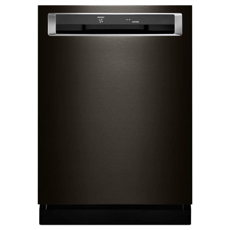 KitchenAid 46-Decibel Built-In Dishwasher (Black Stainless Steel) (Common: 24-in; Actual: 23.875-in) ENERGY STAR