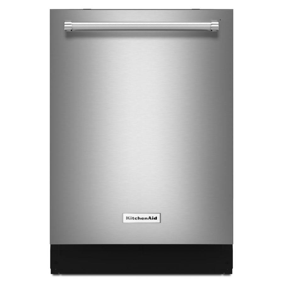 KitchenAid 39-Decibel Built-In Dishwasher with Bottle Wash (PrintShield Stainless) (Common: 24-in; Actual: 23.875-in) ENERGY STAR