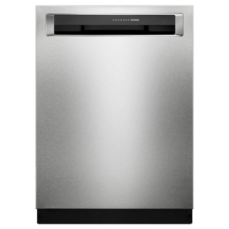 Shop KitchenAid 24in PrintShield Stainless Steel Pocket Handle Dishwasher with FanEnabled