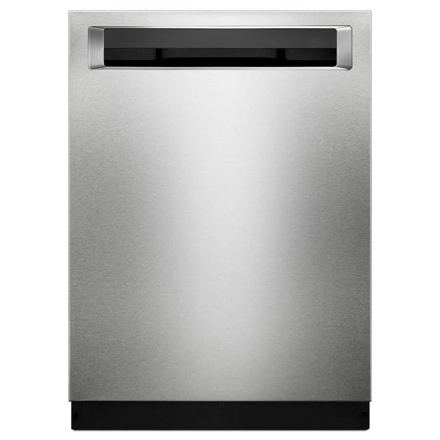 KitchenAid 44-Decibel Built-In Dishwasher (PrintShield Stainless) (Common: 24-in; Actual: 23.875-in) ENERGY STAR