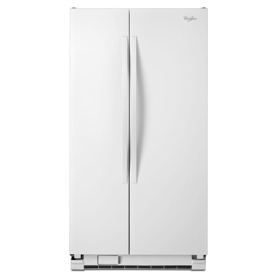 Whirlpool 24.9-cu ft Side-by-Side Refrigerator (White)