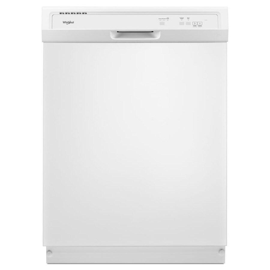 Whirlpool 63-Decibel Built-In Dishwasher (White) (Common: 24-in; Actual: 23.875-in)