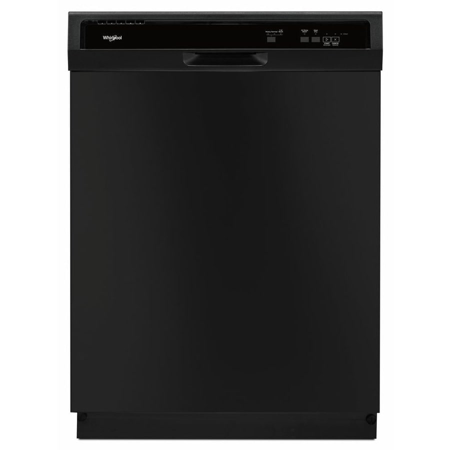 Shop Whirlpool 63-Decibel Built-In Dishwasher (Black