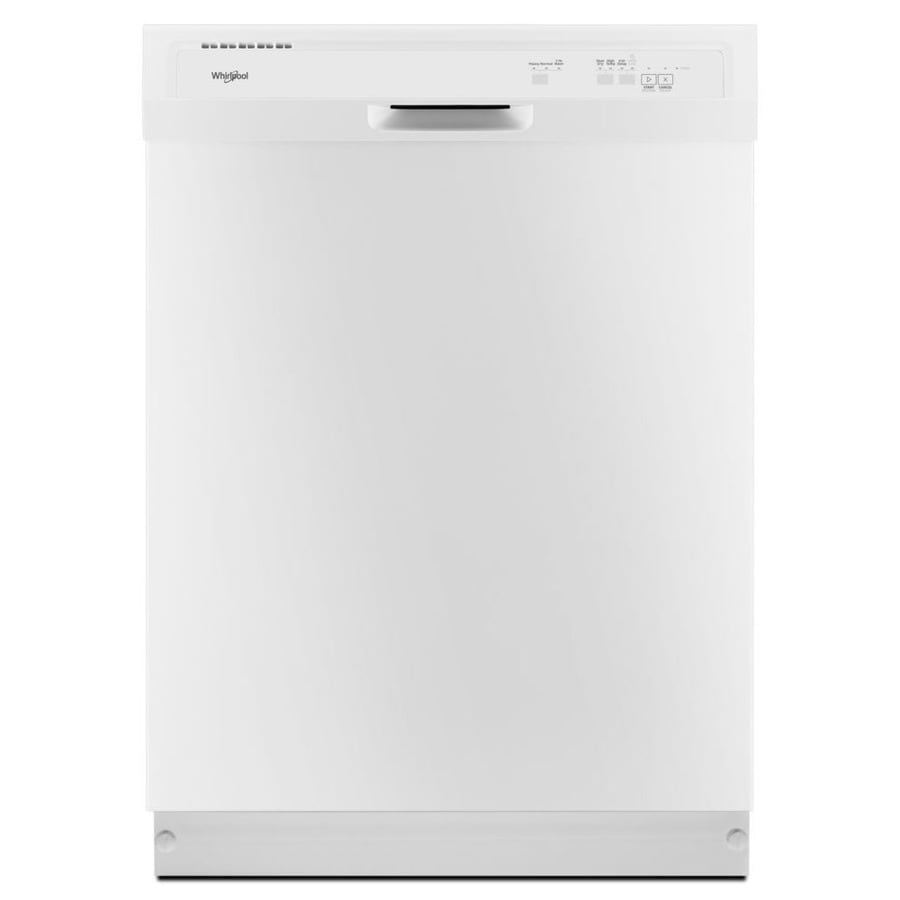 Whirlpool 24 In White Heavy Duty Dishwasher With 1 Hour Cycle Actual