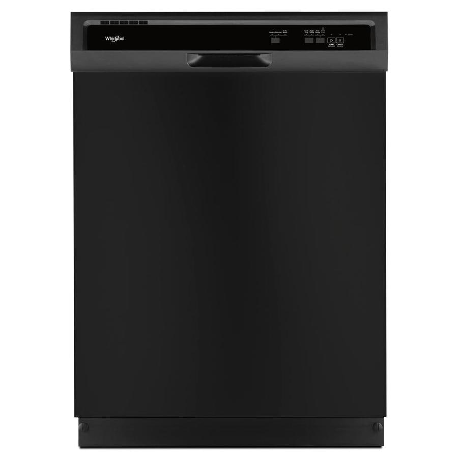 Whirlpool 24 In Black Heavy Duty Dishwasher With 1 Hour Wash Cycle Actual