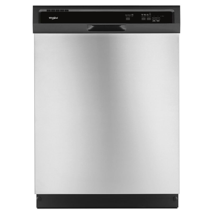 Whirlpool 55-Decibel Built-In Dishwasher (Stainless Steel) (Common: 24-in; Actual: 23.875-in) ENERGY STAR