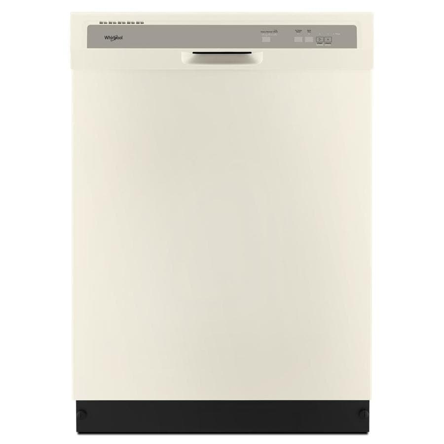 Whirlpool 63-Decibel Built-In Dishwasher (Biscuit) (Common: 24-in; Actual: 23.875-in) ENERGY STAR