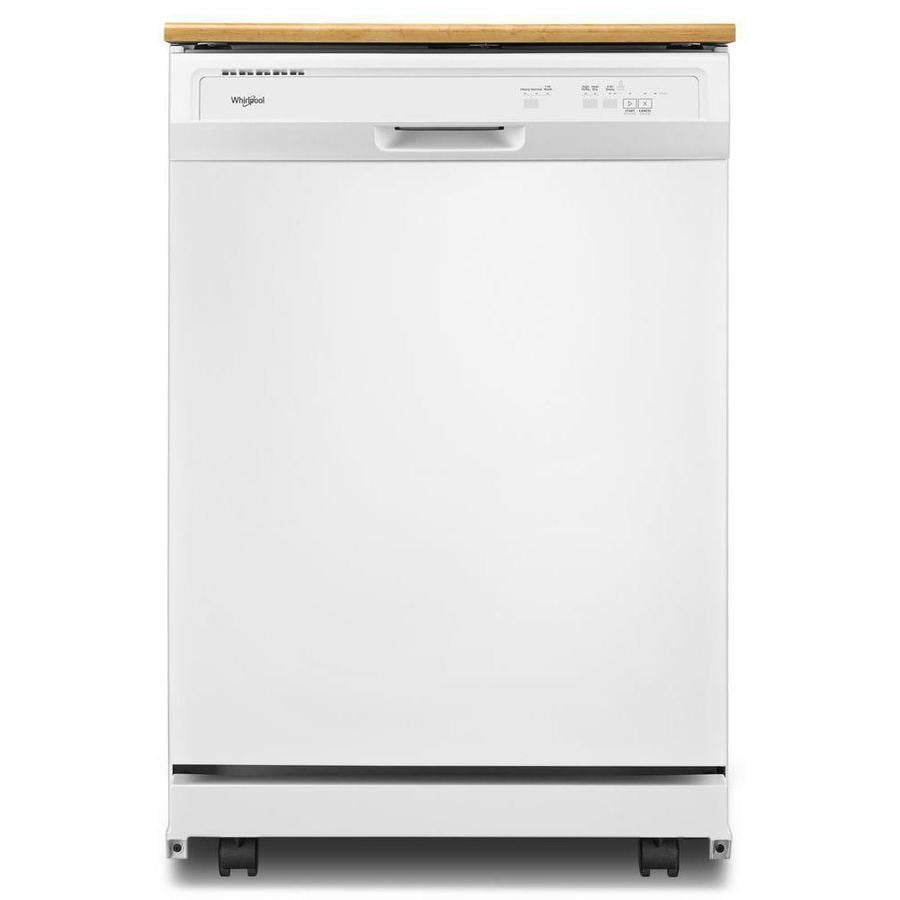 Shop Whirlpool 24.125-in 64-Decibel Portable Dishwasher (White) at ...