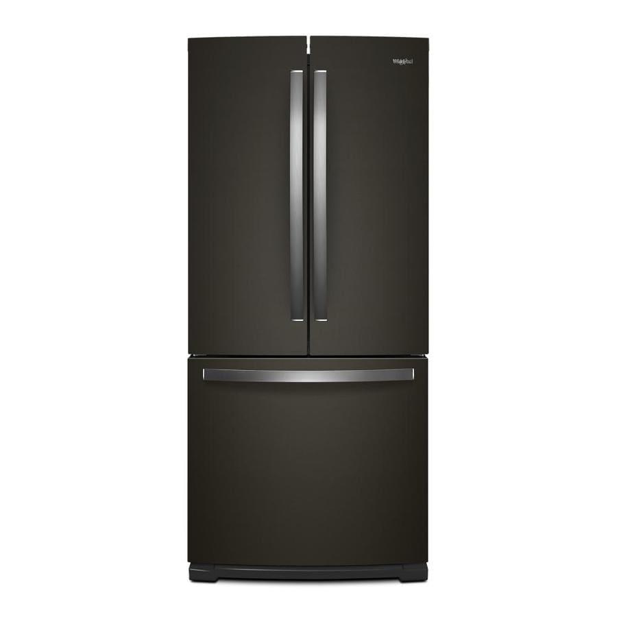 shop whirlpool 19 6 cu ft 3 door french door refrigerator with ice maker fingerprint resistant. Black Bedroom Furniture Sets. Home Design Ideas