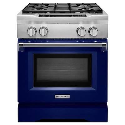 Self-Cleaning Convection Single Oven Dual Fuel Range (Cobalt Blue) (Common:  30-in; Actual 29.75-in)