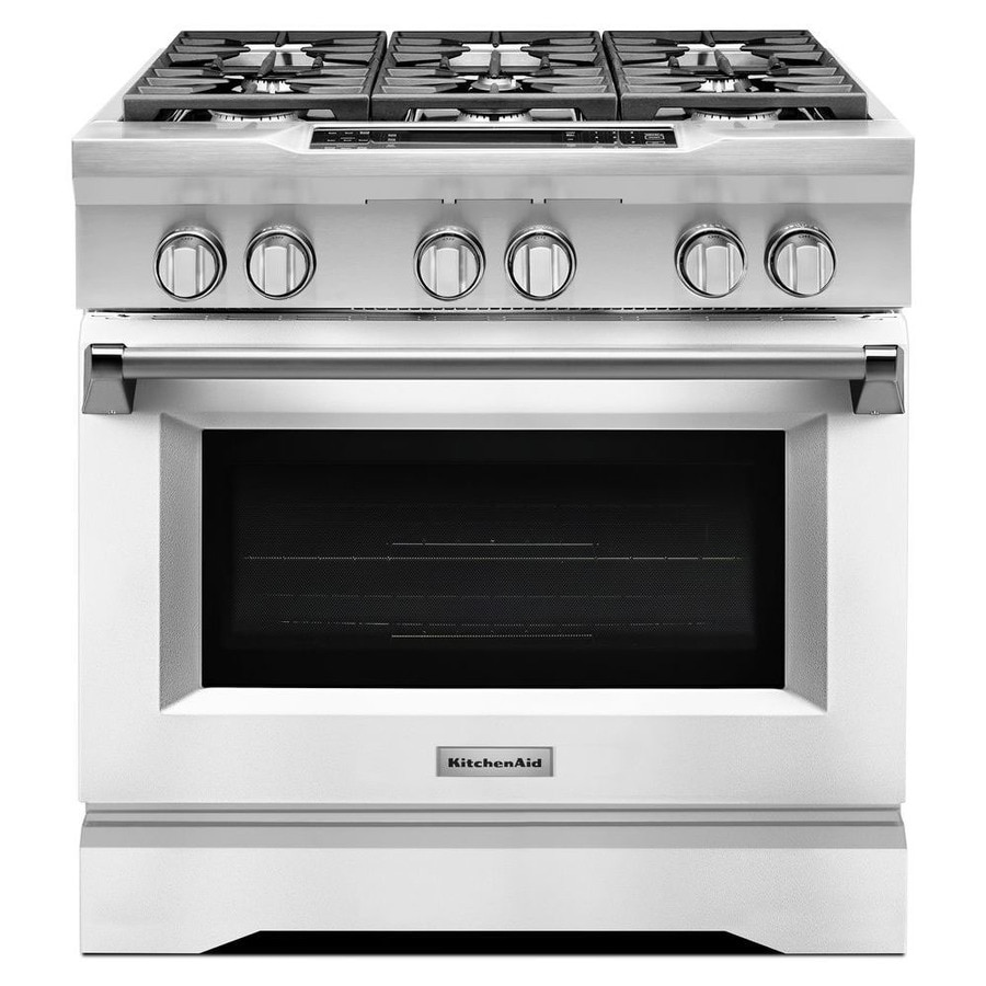 Kitchenaid Deep Recessed 6 Burner Self Cleaning Convection