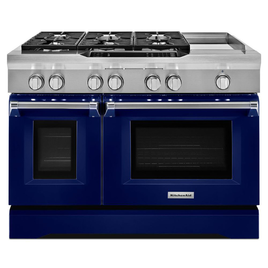 Kitchenaid 48 In 7 Burner 4 1 Cu Ft 2 2 Cu Ft Double