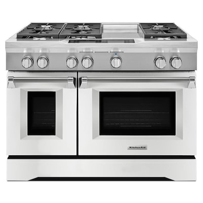 48-in 7-Burner 4.1-cu ft/2.2-cu ft Double OvenConvection Dual Fuel Range  (Imperial White)