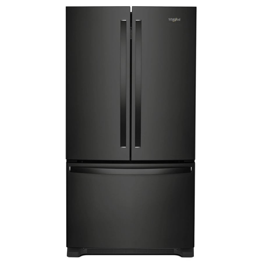 Whirlpool 22.1-cu ft French Door Refrigerator with Ice Maker (Black) ENERGY STAR