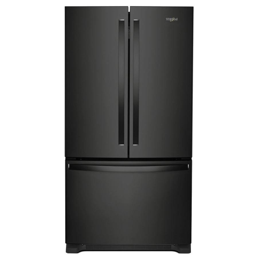 Whirlpool 22.1-cu ft 3-Door French Door Refrigerator with Single Ice Maker (Black) ENERGY STAR