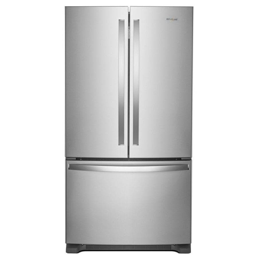 Whirlpool 25.2-cu ft French Door Refrigerator with Ice Maker (Fingerprint-Resistant Stainless Steel) ENERGY STAR