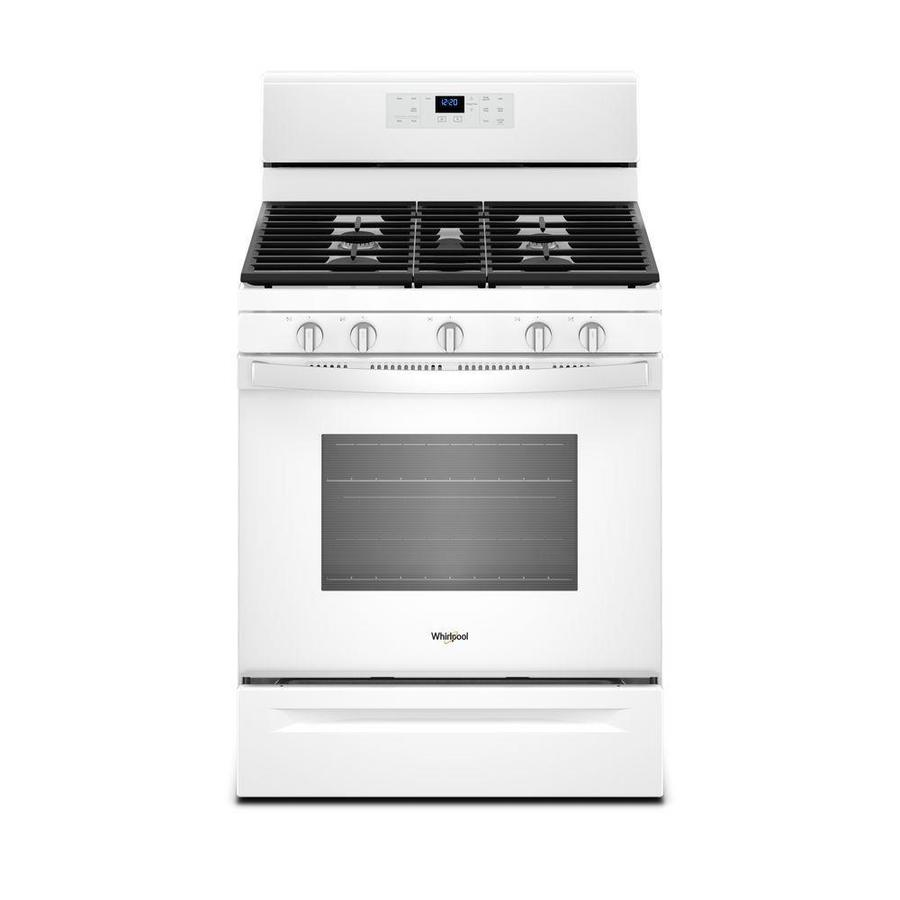 Whirlpool 5-Burner Freestanding 5 Self-Cleaning Convection Gas Range (White) (Common: 30 -in; Actual: 29.875-in)