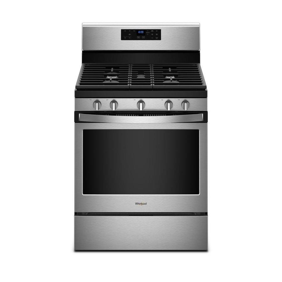 Whirlpool 5-Burner Freestanding 5 Self-Cleaning Convection Gas Range (Stainless steel) (Common: 30 -in; Actual: 29.875-in)
