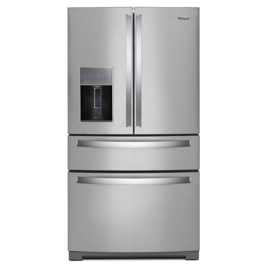 Whirlpool 26.2-cu ft 4-Door French Door Refrigerator with Single Ice Maker (Fingerprint-Resistant Fingerprint Resistant Stainless Steel)