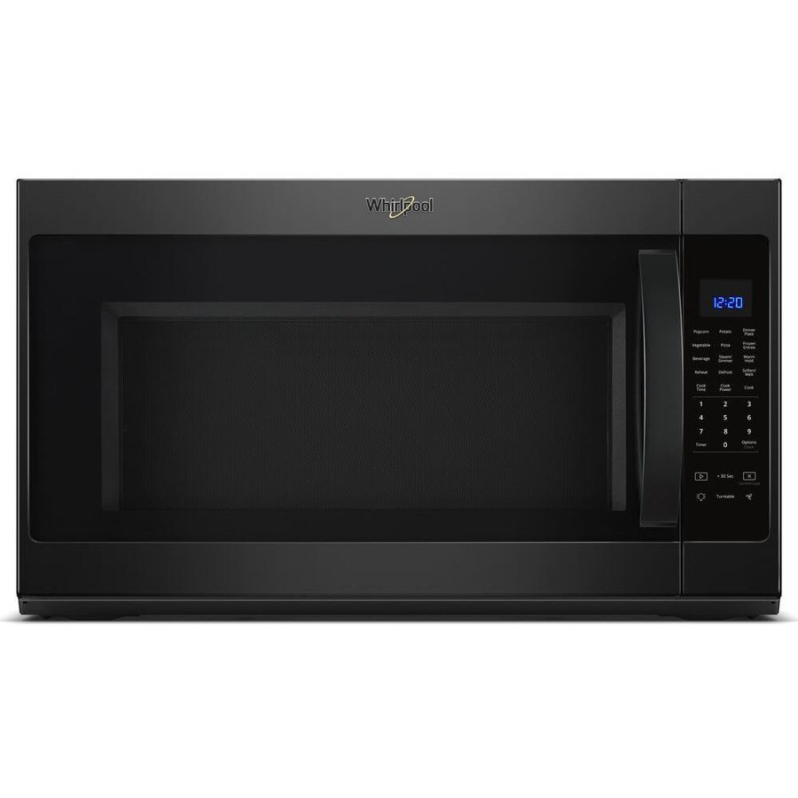 Whirlpool 2 1 Cu Ft Over The Range Microwave With Sensor Cooking Black