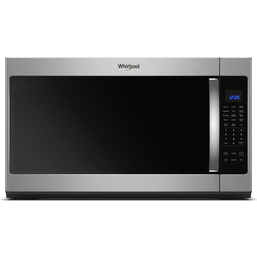 Whirlpool 2 1 Cu Ft Over The Range Microwave With Sensor Cooking Fingerprint