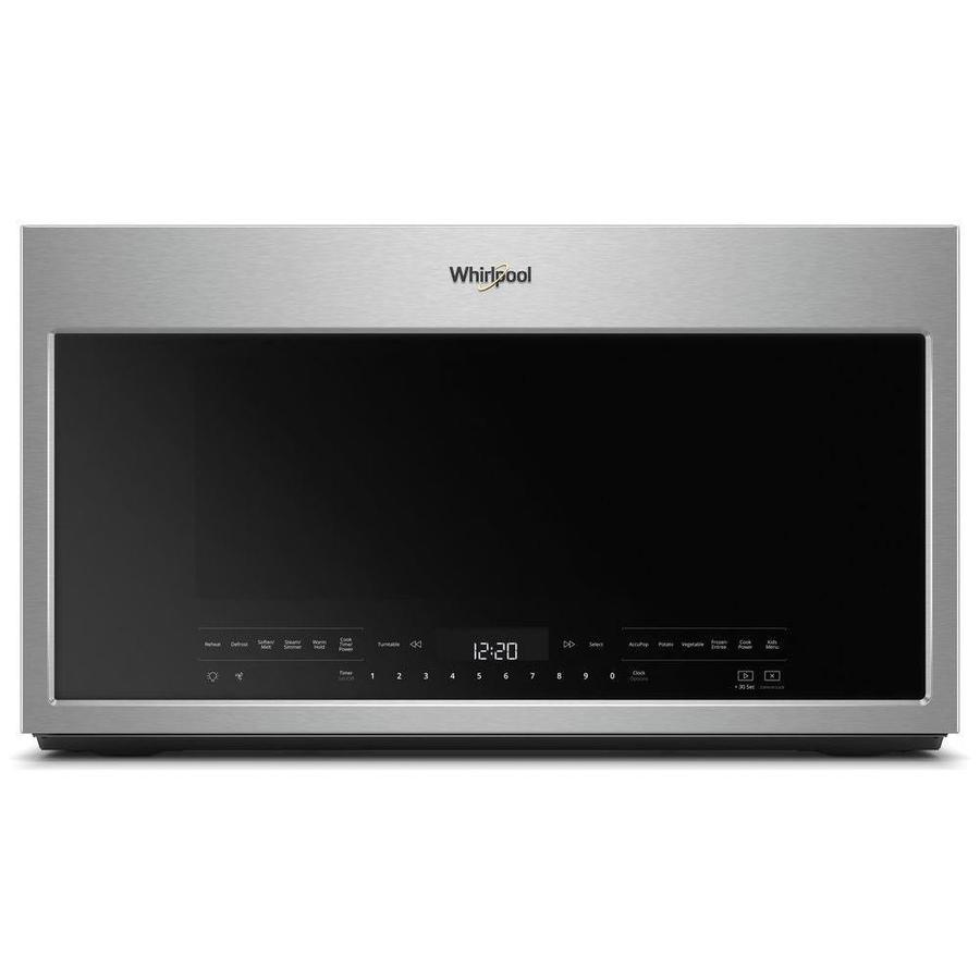 Whirlpool 2.1-cu ft Over-the-Range Microwave with Sensor Cooking Controls (Fingerprint-Resistant stainless steel) (Common: 30-in; Actual: 29.938-in)