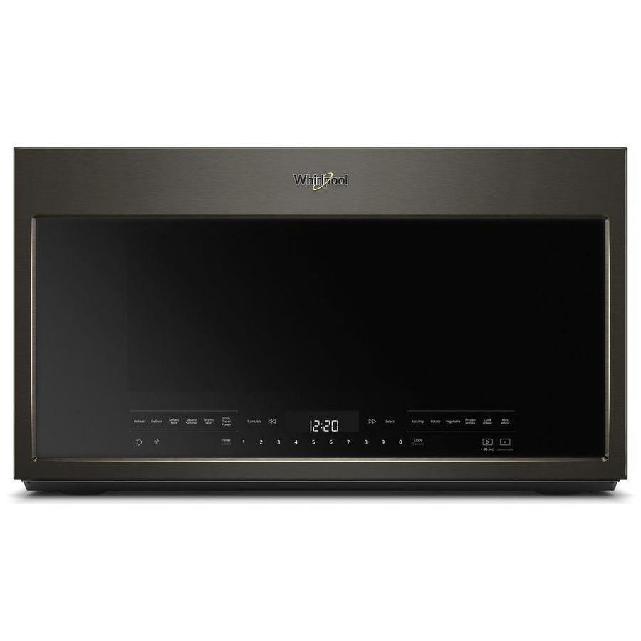 Whirlpool 2.1-cu ft Over-the-Range Microwave with Sensor Cooking Controls (Fingerprint-Resistant Black Stainless) (Common: 30-in; Actual: 29.938-in)