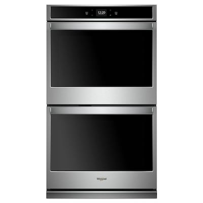 Smart Double Electric Wall Oven Stainless Steel Common 30 Inch Actual In