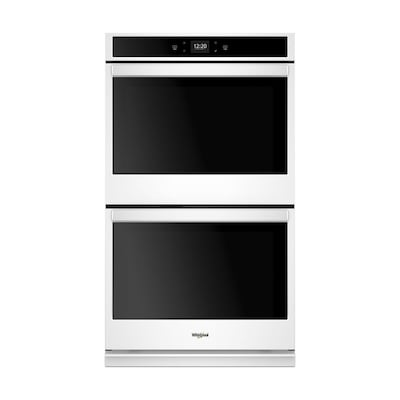 Whirlpool Smart Double Electric Wall Oven White Common 27 Inch