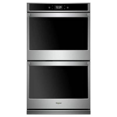 Smart Self Cleaning Convection Double Electric Wall Oven Stainless Steel Common 27 Inch Actual In