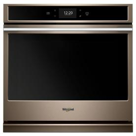 Whirlpool 30 in. Smart Single Electric Wall Oven with True Convection Cooking in Fingerprint Resistant Sunset Bronze