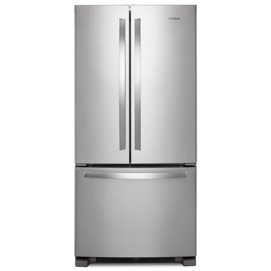 Whirlpool 22.1-cu ft French Door Refrigerator with Ice Maker (Fingerprint-Resistant Stainless steel) ENERGY STAR