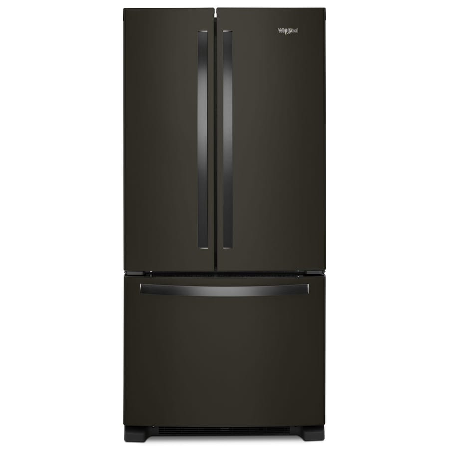 Shop Whirlpool 22 1 Cu Ft 3 Door French Door Refrigerator