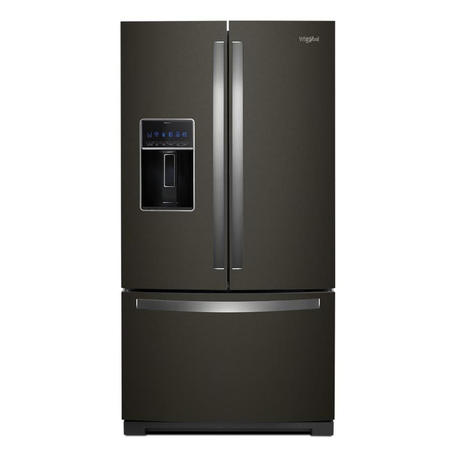 Whirlpool 26 8 Cu Ft French Door Refrigerator With Dual