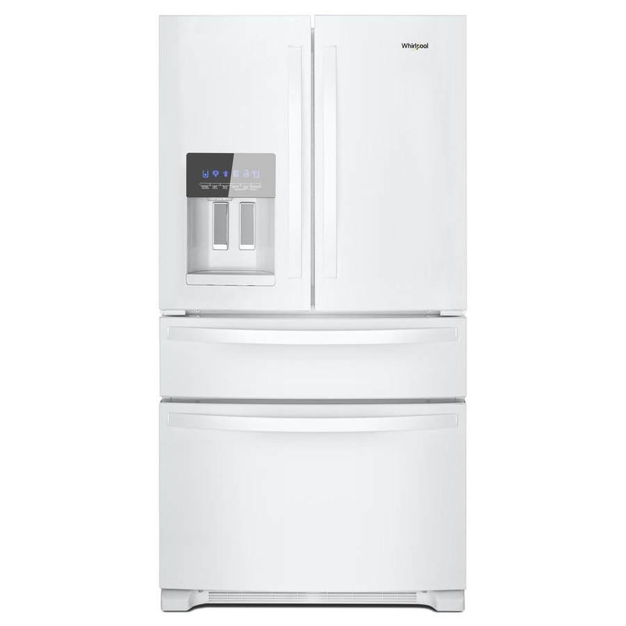 Whirlpool 24.5-cu ft 4-Door French Door Refrigerator with Ice Maker (White) ENERGY STAR