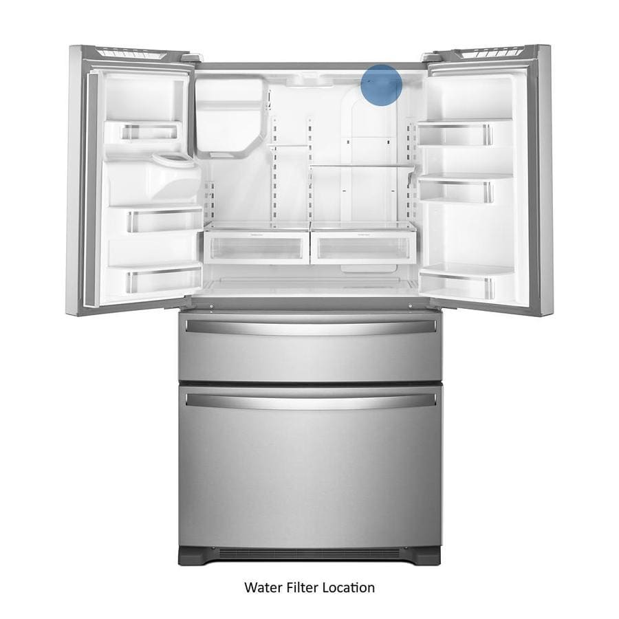 Shop Whirlpool French Door Refrigerator Electric Range Suite In Fingerprint Resistant Stainless Steel At Lowes Com