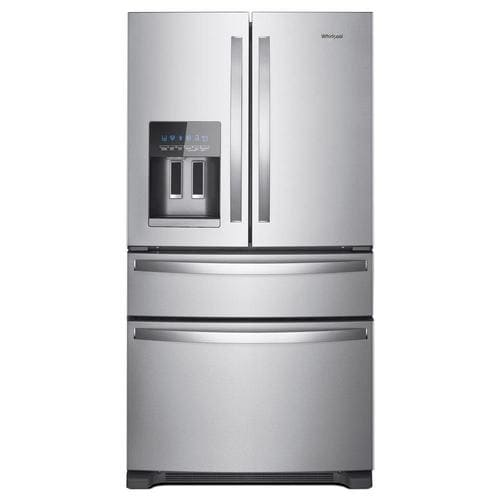 Whirlpool 24.5-cu ft 4-Door French Door Refrigerator with Ice Maker (Fingerprint-Resistant Stainless Steel) ENERGY STAR at Lowes.com