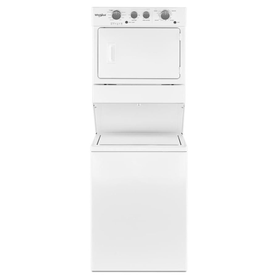 Whirlpool Electric Stacked Laundry Center With 3 5 Cu Ft Washer And 9 Dryer White