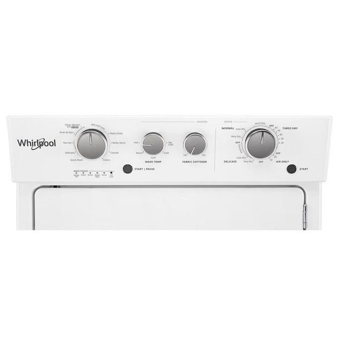 Whirlpool Apartment Size Washer And Dryer: Whirlpool Gas Stacked Laundry Center With 3.5-cu Ft Washer